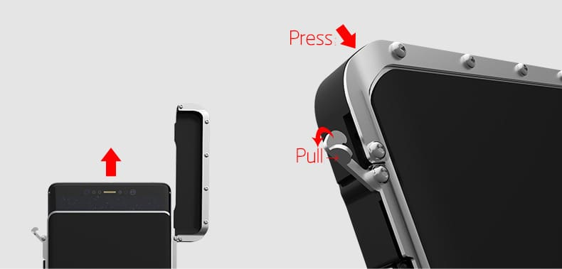 R-Just Stainless Steel Metal Flip Case For Samsung Galaxy Note 8 S7 S6 Edge S8 Plus Shockproof Cover For Iphone Xs Xr Max 8 Plus