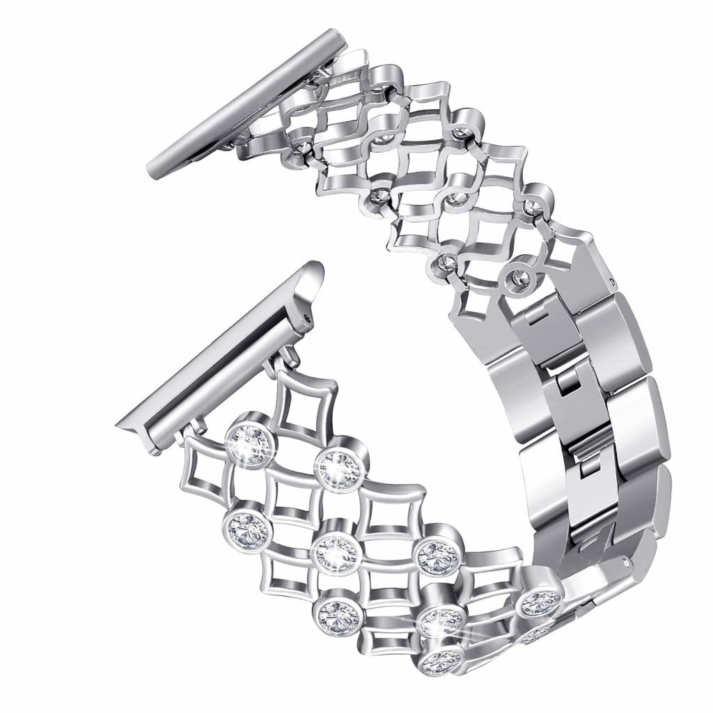 Apple Watch Band Stainless Steel Diamond Crystal Bling Iwatch Strap Fits 44Mm/ 40Mm/ 42Mm/ 38Mm Series 1 2 3 4