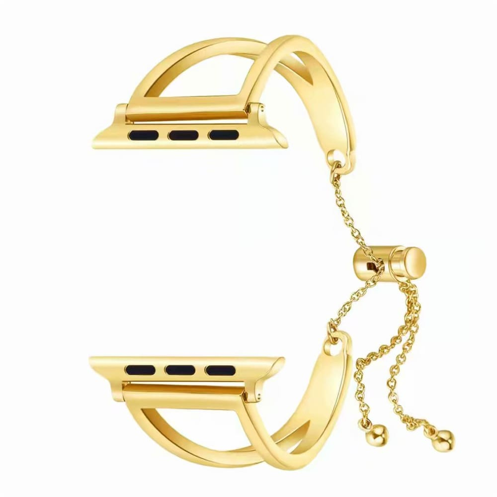 Apple Watch Band Cuff, luxury bracelet gold golden women fashion Fits 44mm 40mm 42mm 38mm, Iwatch Series 1 2 3 4 stainless steel mia