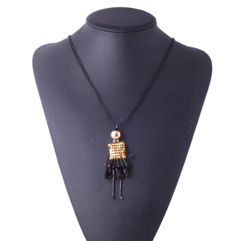 Doll Pendant Dress Doll Necklaces*