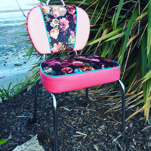 Flower Bomb Upcycled New Zealand Made Kitchen Chair