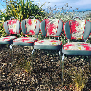 Upcycled Retro Kitchen Chairs New Zealand Made