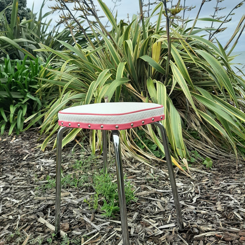Retro Chrome Stool - Seat