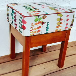 Footstool / Seat Wooden Base