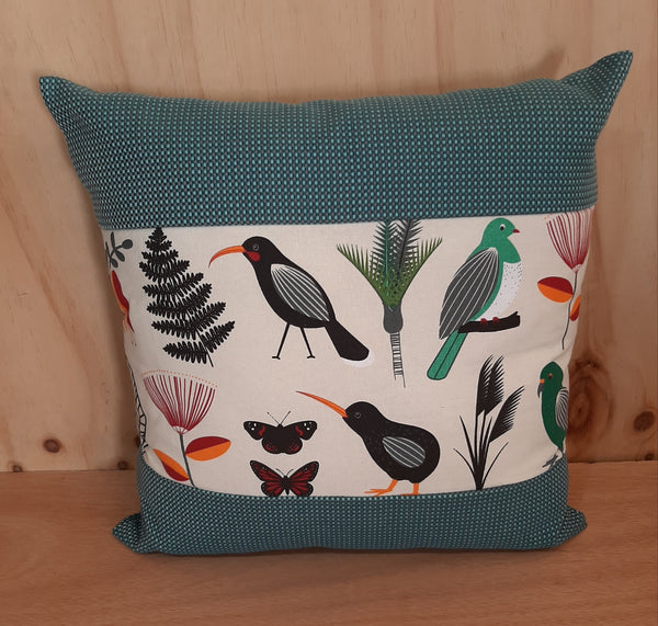 NZ Native Bird Theme Cushion Cover - Kereru