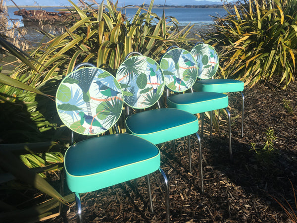 Kereru & Tui Set off 4 Kitchen Chairs
