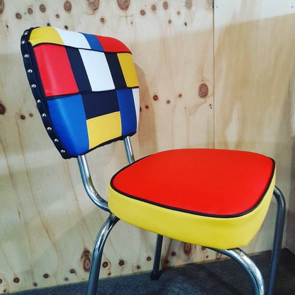 Piet Mondrian inspired Retro Kitchen Chair