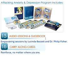 Attacking Anxiety & Depression Program, A Drug-Free, Self-Help Set - Kindle Book Digital Download Only - This is Not a CD