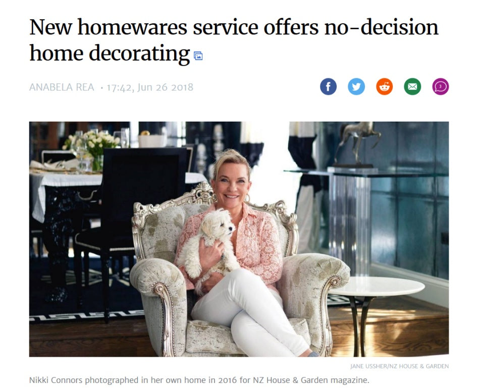 NEW HOMEWARES SERVICE OFFERS NO-DECISION HOME DECORATING