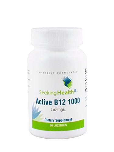 Active B12 1000 | 60 Lozenges | 1000 mcg B12 as Adenosylcobalamin and Methylcobalamin | Seeking Health