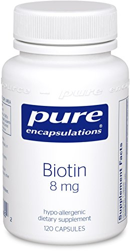 Pure Encapsulations - Biotin 8 mg - Hypoallergenic B Vitamin Supplement - 120 Capsules