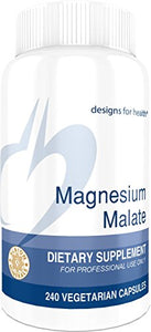 Designs for Health - Magnesium Malate - 360mg, 240 Capsules