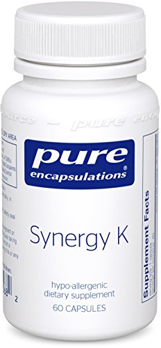 Pure Encapsulations - Synergy K - Hypoallergenic Formula with Vitamin K1, K2, and D3 for Bone and Arterial Health* - 60 Capsules