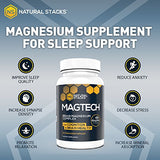 Natural Stacks' MagTech Magnesium Complex (90 Capsules) - Promote Brain Health, Improve Cognitive Aging, & Help with Sleep Support - Vitamin and Dietary Supplement