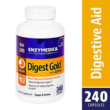 Enzymedica - Digest Gold with ATPro, High Potency Enzymes for Optimal Digestive Support, 240 Capsules (FFP)