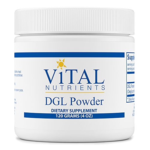Vital Nutrients - DGL Powder - Nutritional Support for the Stomach and Intestinal Tract Lining - 120 grams
