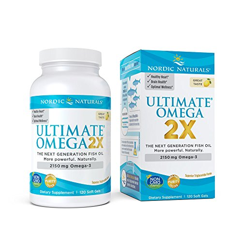 Nordic Naturals Ultimate Omega 2X - Extra Omega-3s Support Heart, Brain, and Immune Health, 120 Soft Gels