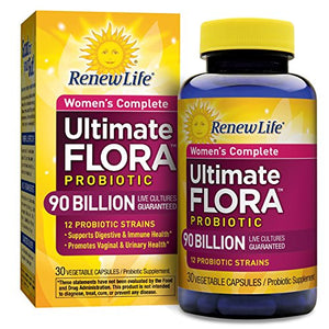 Renew Life - Ultimate Flora Probiotic Women's Care - 90 billion - 30 vegetable capsules