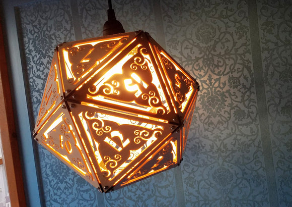 Giant Dice Lamps and polyhedrons