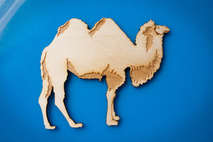 Wooden Camel (two hump) Magnet