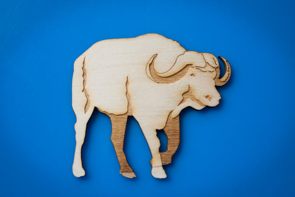Wooden Cape Buffalo Magnet