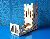 Laser cut Dice Tower with tray (vector file) digital download
