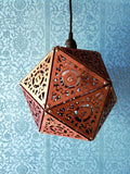 Steampunk D20 Dice Lamp- Giant 12""