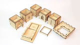modular castle dice tower components