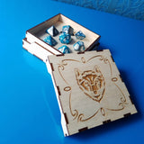 RPG Dice Box - With Borders and Symbols for Engraving - Vector Files (Digital Download)