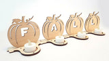 Laser Cut - Fall Spelling Pumpkin Luminary Designs - (Digital Download)