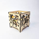 Laser Cut - Eagle's Nest - Large Candle Luminary (Digital Download)