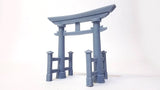 3d Printed Torii Gate and fences - Wargame - Scatter Terrain (.stl file)