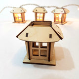 String Light Lantern - Mission Style - Christmas Luminaries - (Digital Download)