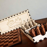 Classic Chess and Checkers set with Box - DIY Project (Digital Download)