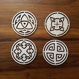 12 Celtic Coasters Designs (digital download)