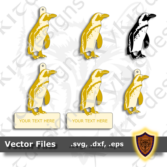 African Penguin - Animal Ornament - Magnet - Key Chain - (SVG, DXF, EPS) Digital Download