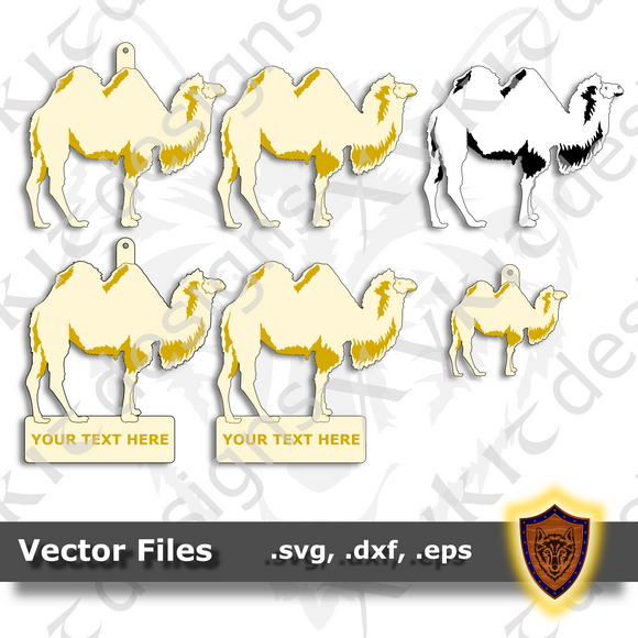 Camel - Two Hump - Animal Ornament - Magnet - Key Chain - (SVG, DXF, EPS) Digital Download