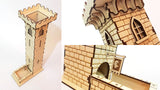 castle dice tower close ups