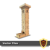The Castle Dice Tower -(Laser Files Download)