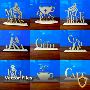 Coffee Lover Signs - 9 Designs - 3mm and 6mm (digital download)