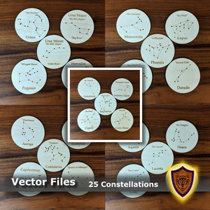 Constellation Coasters Designs - SVG - DXF - EPS (digital download)