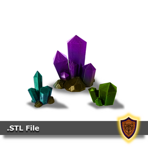 3d Printed Crystals - Scatter Terrain (.stl file)