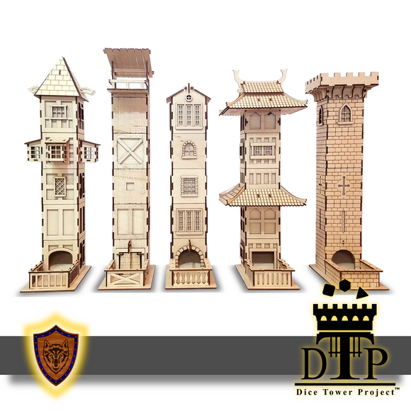 The Dice Tower Project - Complete Collection -(Laser Files Download)