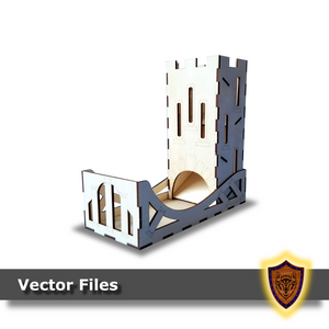 standard laser cut dice tower vector files
