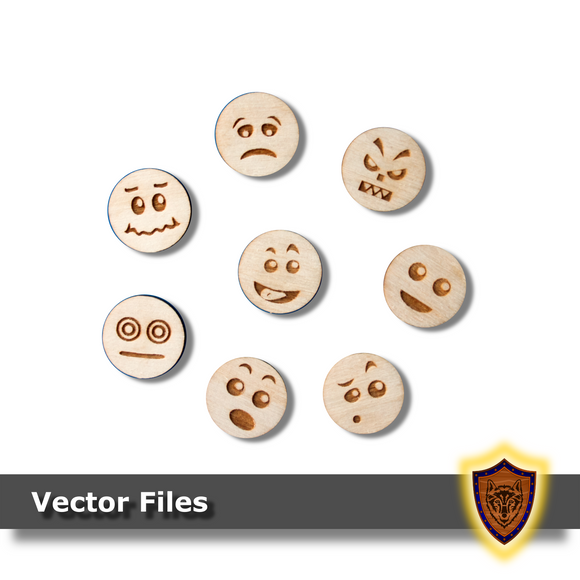 FREE Laser Cut - Emoji Faces (vector files) digital download