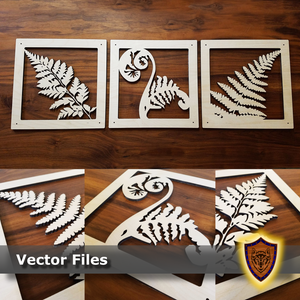 Fern Leaves Wall Art - Laser Files (Digital Download)