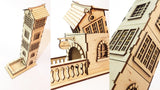 french provincial dice tower pieces