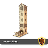 The French Provincial Dice Tower - (Laser Files Download)