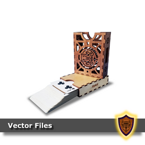 Laser Cut - Halfing Deck Box - Sleeved and Un-sleeved - Vector Files (Digital Download)
