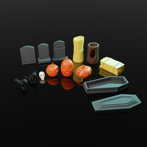 3D Printable Halloween RPG set - Scatter Terrain (.stl file)